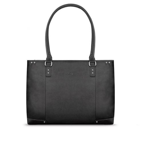 SOLO NY JAY LEATHER TOTE BLACK 15.6
