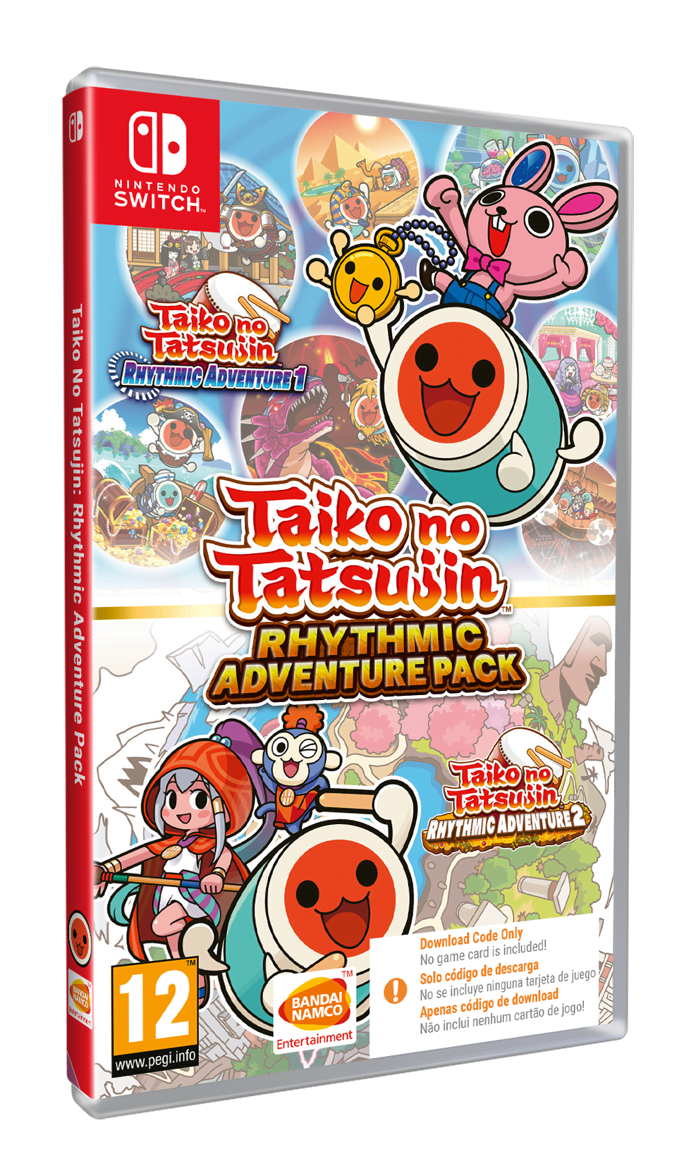 Taiko no Tatsujin: Rhythmic Adventure Pack (CIAB) (Nintendo Switch)