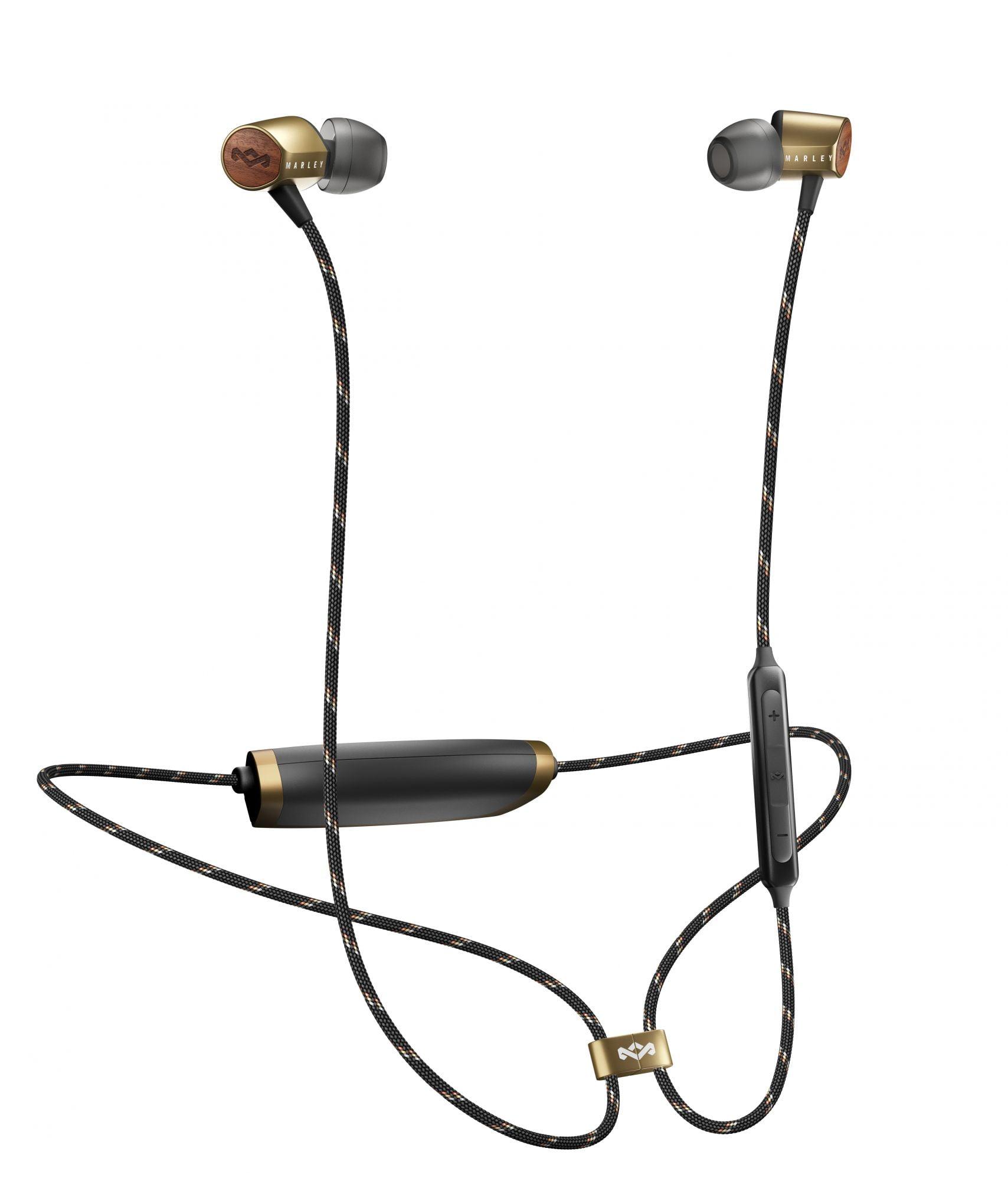 House of Marley Uplift Bluetooth ušesne slušalke - medenina barve